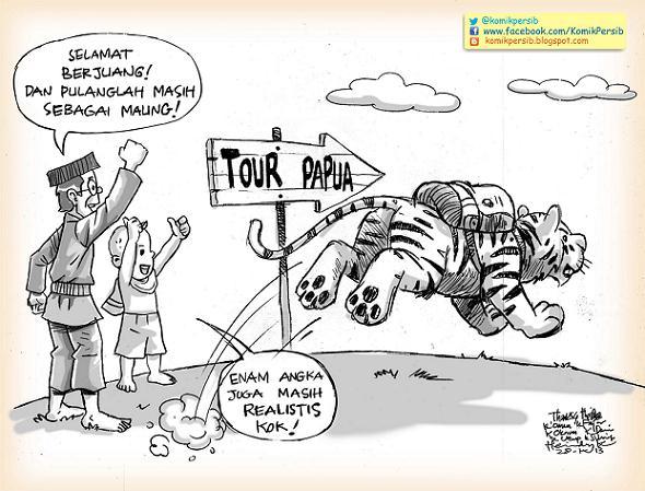 Komik Persib, Tour Papua