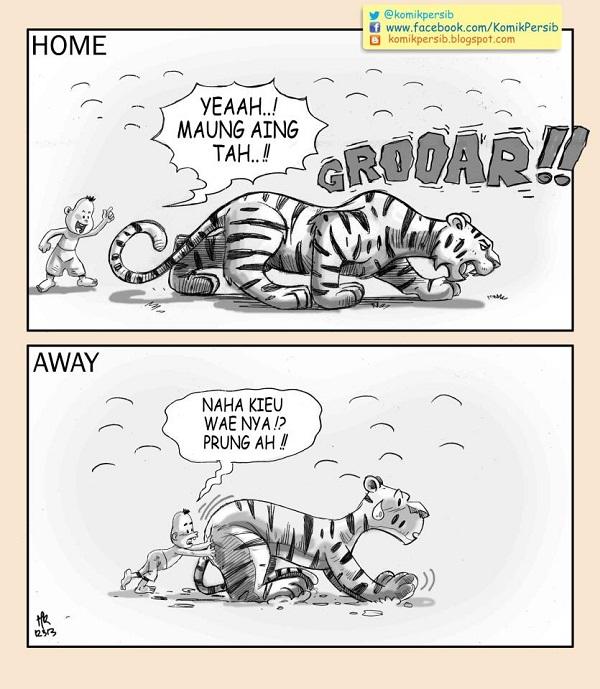 Komik Persib Home Garang