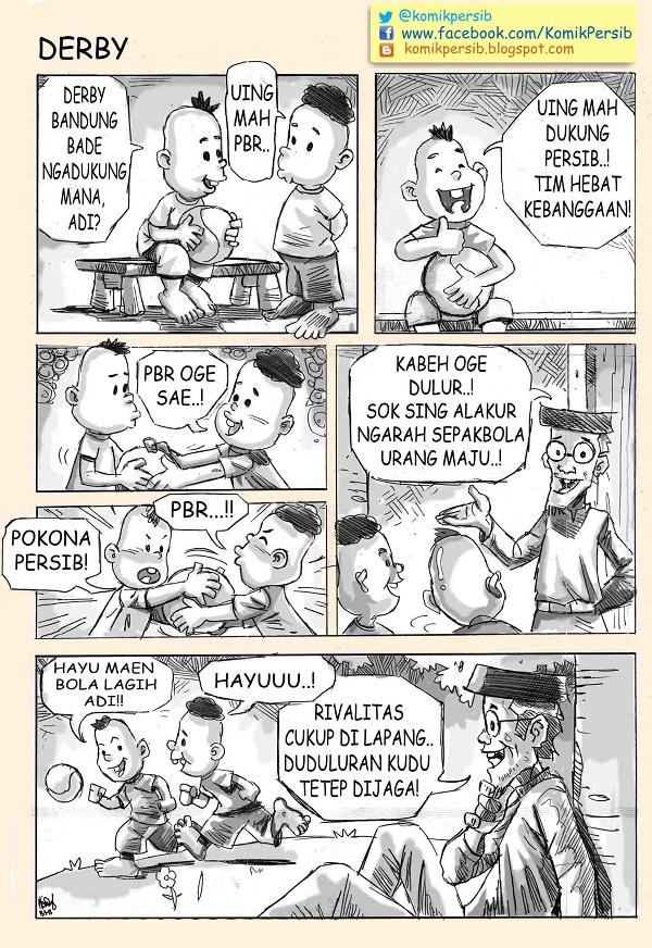 Komik Persib: Derbi
