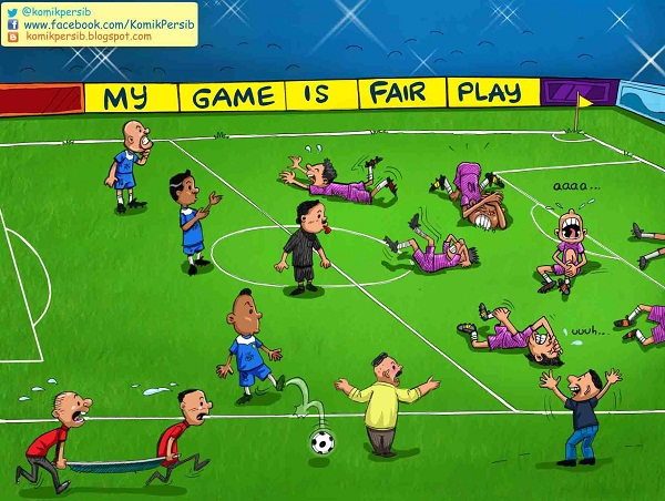 Komik Persib: My Game is Fair Play