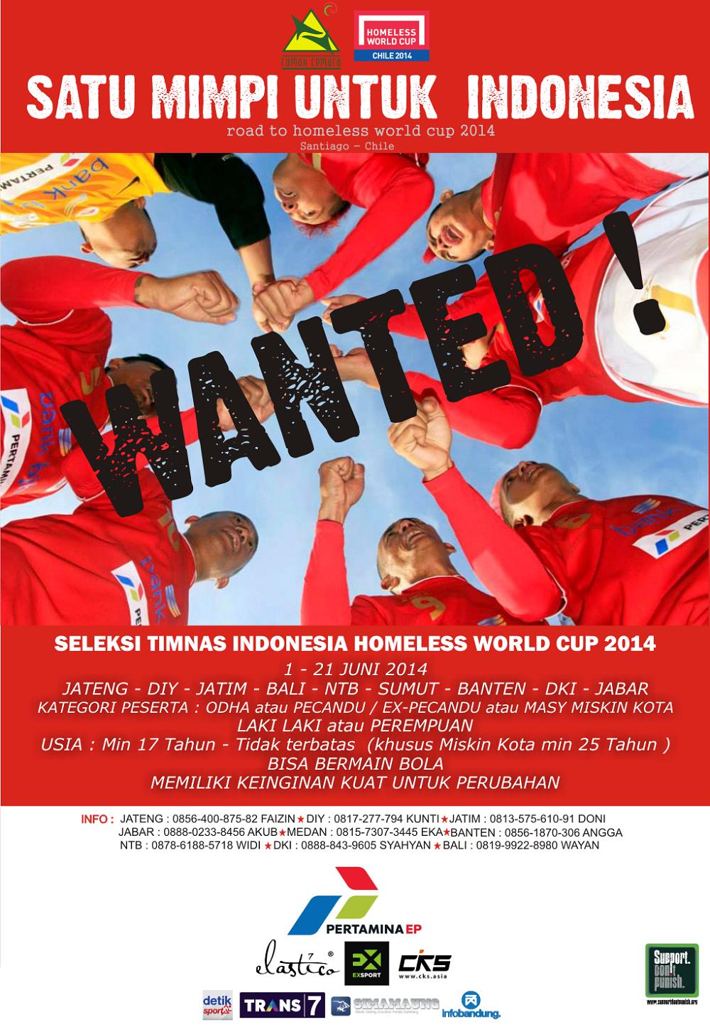Seleksi Timnas indonesia Homeless World Cup 2014