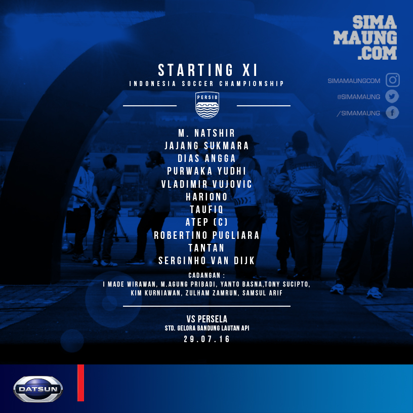 Match vs Persela Starting