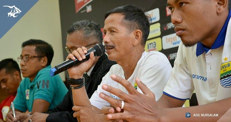 Konferensi pers barito putera vs Persib Jajang Nurjaman