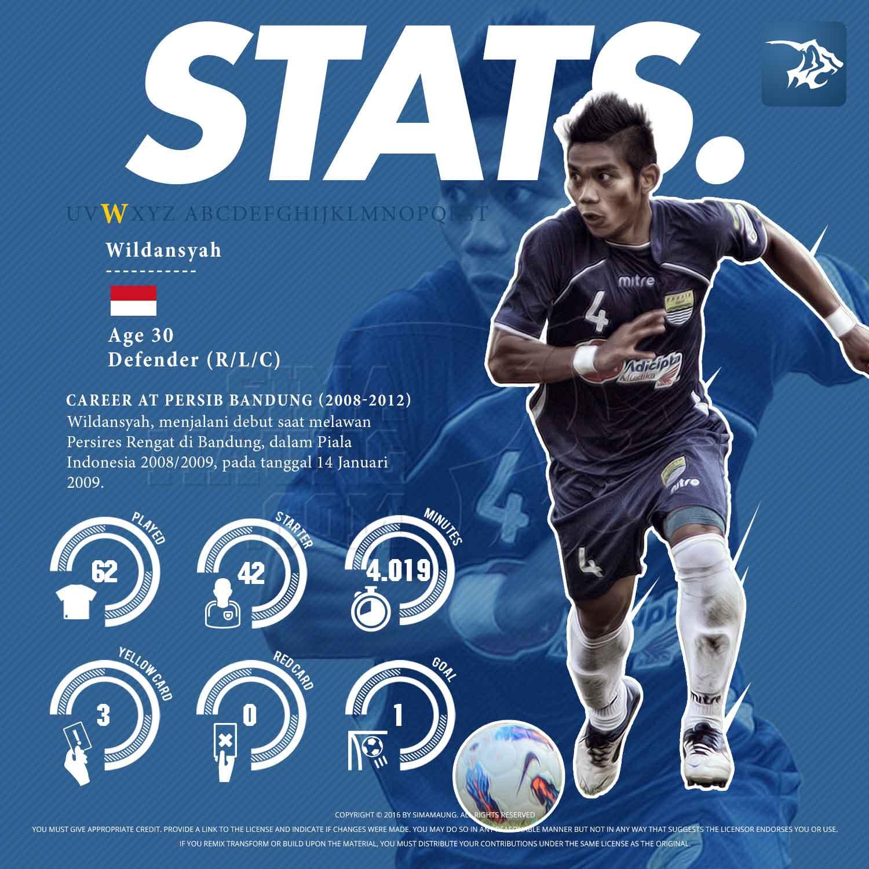 Statistik Wildansyah di Persib 2008-2012
